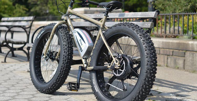 You can put a BionX electric bike kit on almost any kind of bike - here is one on a Surly moonlander with Bionx motor from NYCeWheels in New York. BionX Electric Bike Kit Review