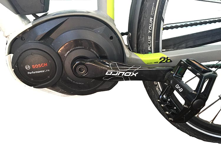 Haibike Xduro Trekking Pro - Bosch Performance Motor - a truly great crank-drive motor - read the full review here