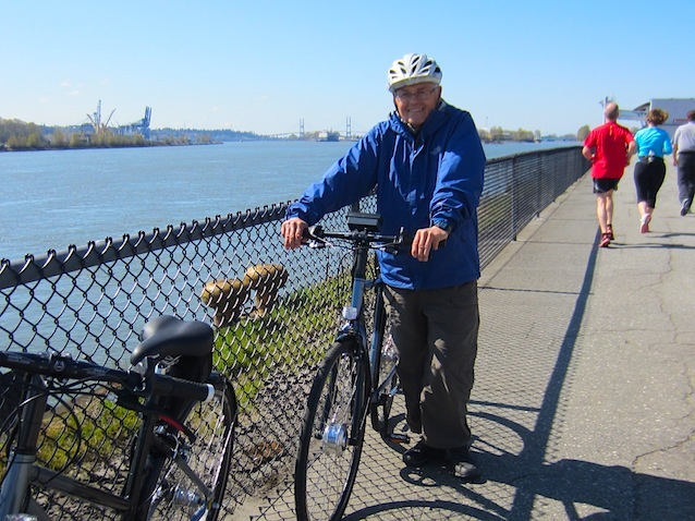 Ron Wensel with his Pedal Easy Electric Bike