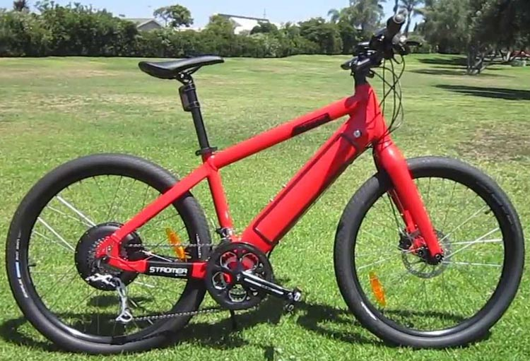 Electric bikes such as this Stromer electric bike are so powerful that they can be run on throttle only - except on steep hills