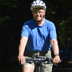 Hats off to Ron - still cycling despite his heart attacks