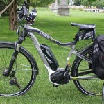 The Haibike is an example of a Pedelec electric bike - it will not move unless you are pedaling!