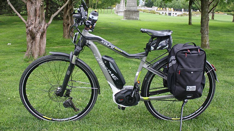 Beautiful bike - but where am I going to put a water bottle? This is my Haibike Xduro Pro. You can read a full review of this awesome electric commuting bike here