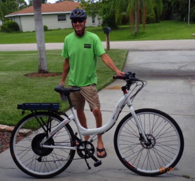 Test Rider Michael Chichester is an expert electric bike rider. He test rode the Prodeco Stride 400 Electric Bike