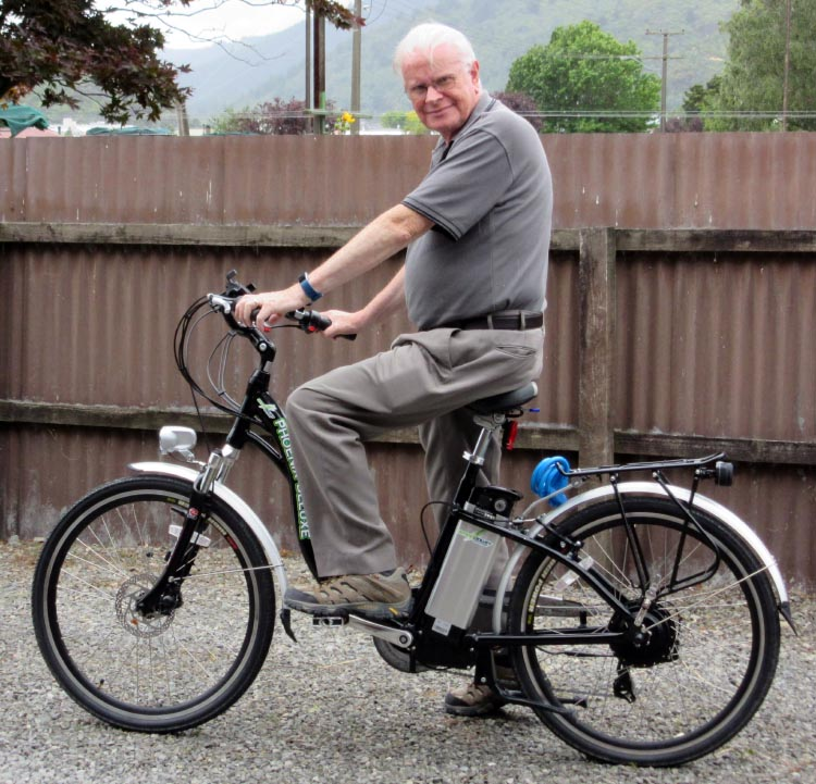 Philip Middlemiss is 72 years old. He is recovering his health by cycling on an electric bike