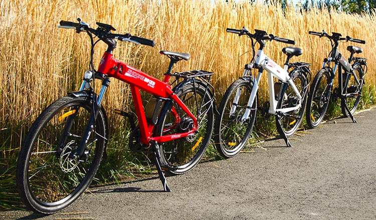 The Spark electric bike is available in red, white and matte black. Shocke Spark electric bike review