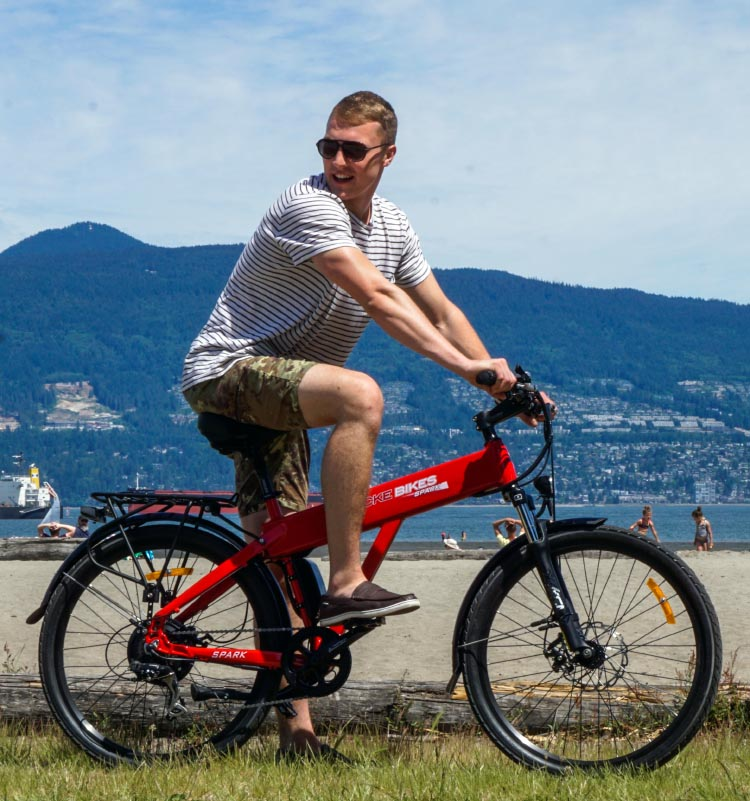 The Shocke Spark electric bike is really comfortable off road. Spark electric bike review