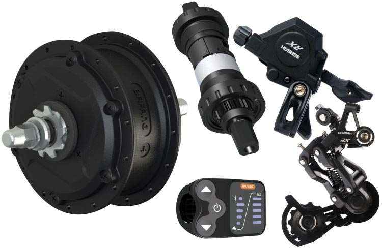 RM G353 - 3 speed hub and shifting components