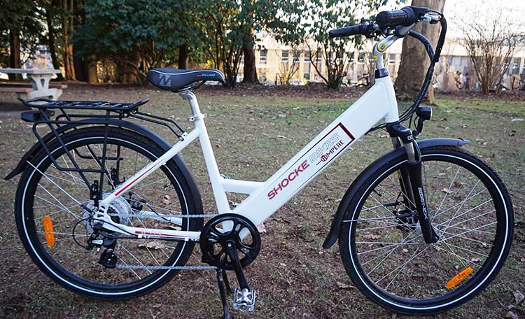 Electric city bikes usually have a comfortable, upright sitting position. The Ampere Electric Bike offers a comfortable ride. You can read a full review of the Ampere here. You can check out all the specs on an Ampere here