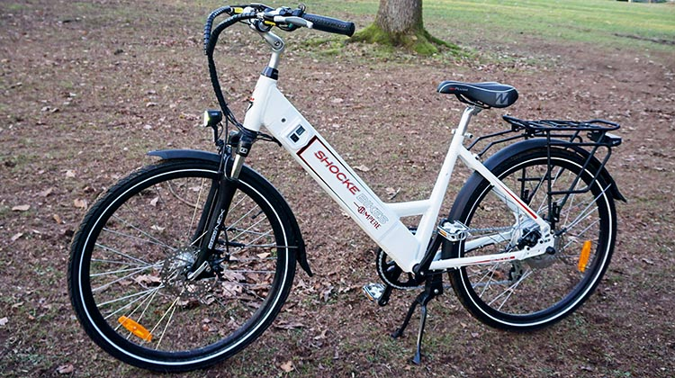Pedelec bikes like this Shocke Ampere require pedaling at all times to keep you going, when used in pedal assist mode. This ensures that you are getting moderate exercise all the time while riding them. You can read our review of this beautiful ebike here