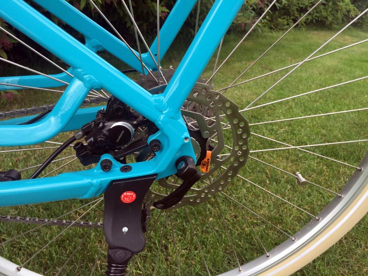 The Cube Elly Ride Hybrid 400 Electric Bike hydraulic disc brakes