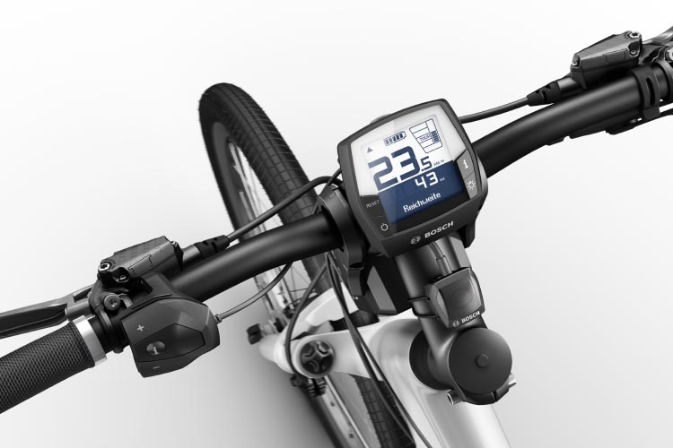 The console of a Bosch powered pedelec bike