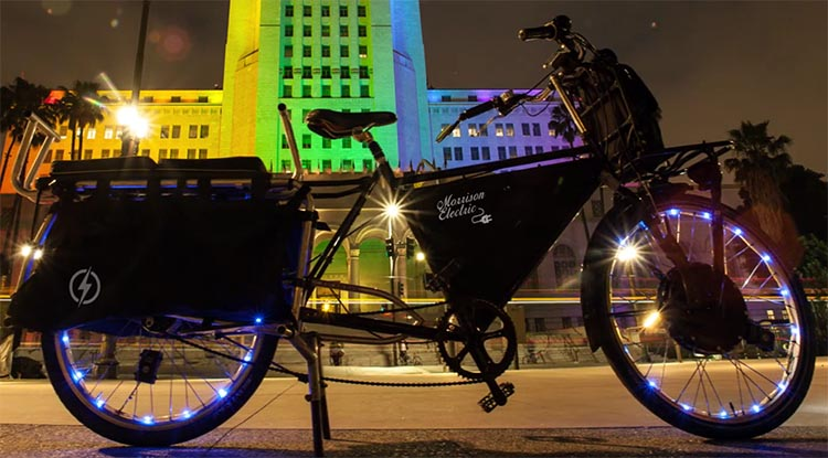 I crafted my electric cargo bike to be powerful, quick, and able to go long distances as well as haul a lot of weight. Morrison Electric Cargo Bike