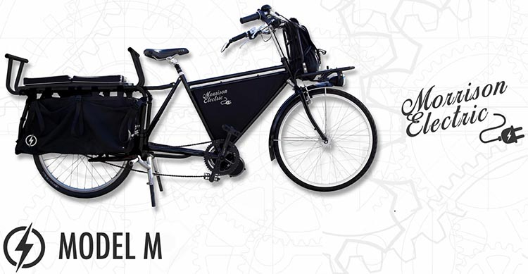 The Model M (mid-drive) Morrison Electric Cargo Bike will feature a Bafang BBSHD mid drive motor