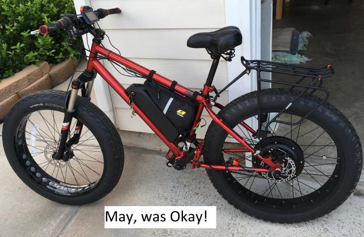 Eventually I finished creating my ideal ebike!