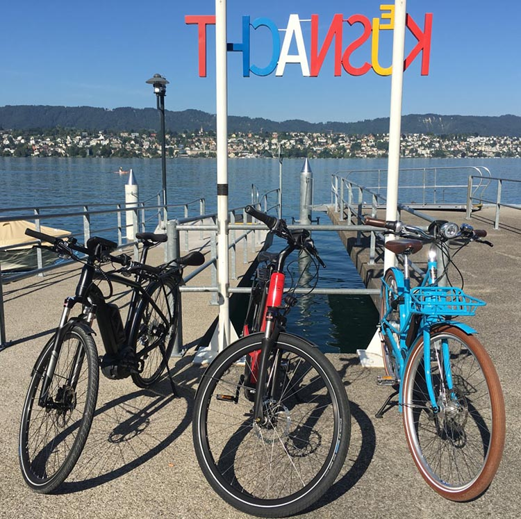 Thanks to Bosch eBike Systems we were able to test ride three different e-bikes around Zurich Lake.