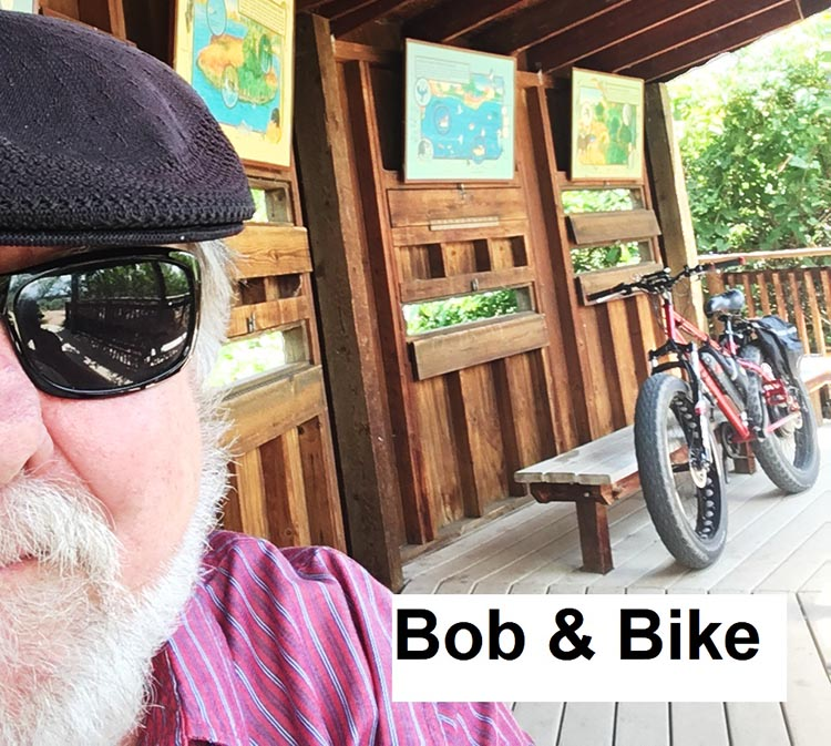 Bob Seible with his home-made e-bike