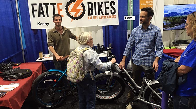 The lady talking to Tom Nardi in the photo is 80 plus and no longer able to drive. But she still loves cycling – she just wants an e-bike to give her a boost!