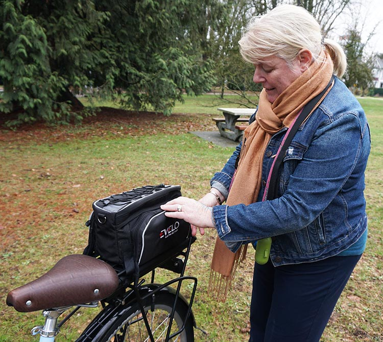 Maggie was a big fan of this EVELO pannier