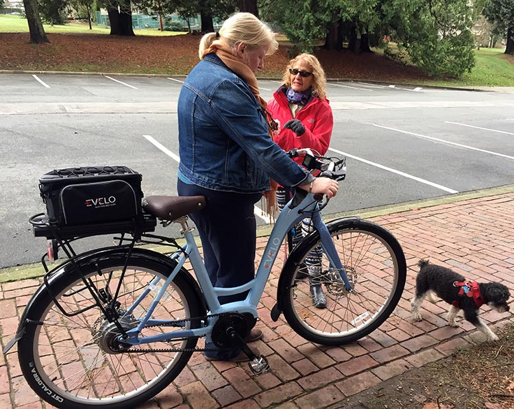 This woman thought an e-bike like this would empower her to get back to cycling after 30 years - and she was less than 5 feet tall!