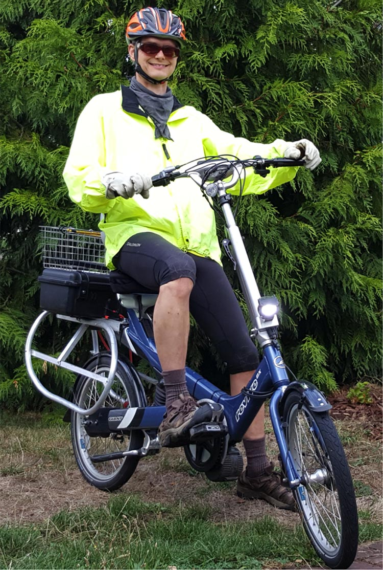 Electric Bike Conversion: Bafang BBS01 motor and Giant Revive. Levin F. Nock tells his story of how he converted a comfortable Giant Revive into an electric cargo bike