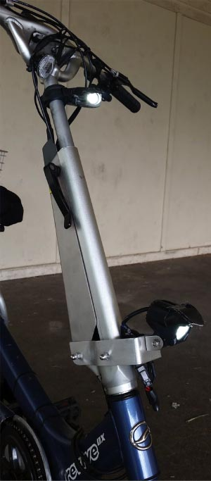 Electric Bike Conversion: Bafang BBS01 motor and Giant Revive. Lights on my Giant Revive e-bike