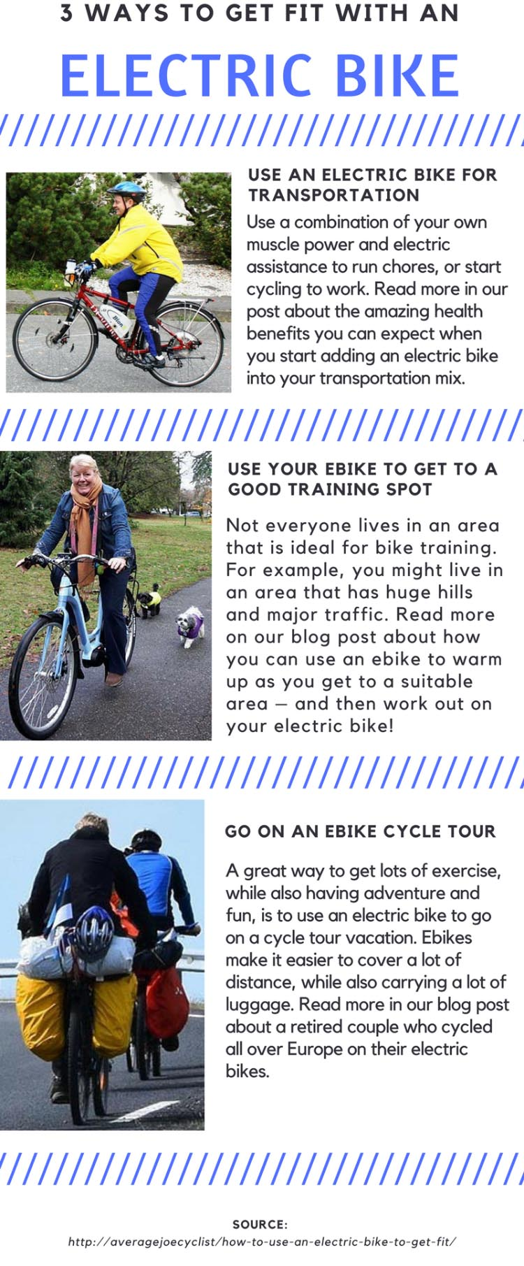 3 great ways to get fit with an ebike