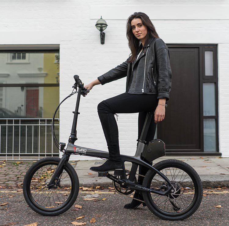FuroSystems Launches Two New Carbon E-Bikes: Folding and Mountain. The FX folding e-bike is a versatile commuting bike
