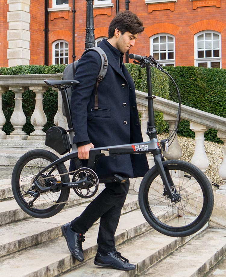 FuroSystems Launches Two New Carbon E-Bikes - Folding and Mountain. You can take the FX Folding E-Bike pretty much anywhere