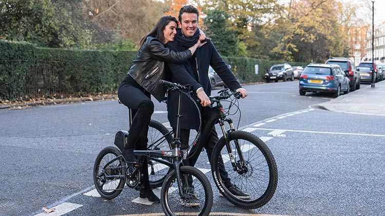 The SIERRA offers a perfect ride for anyone in any situation, while retaining a sleek design. This photo shows both of the new e-bikes