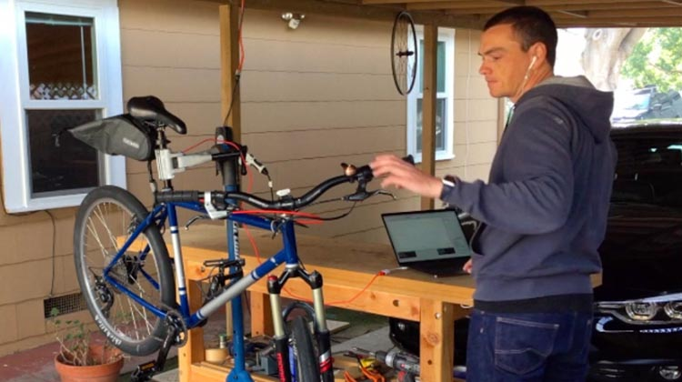 Open source ebike project. Jon Cosgrove working on his open-source ebike software. This could be you!