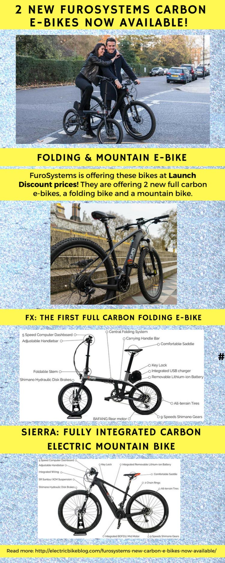 Furosystems new carbon e-bikes now for sale at discounted launch prices