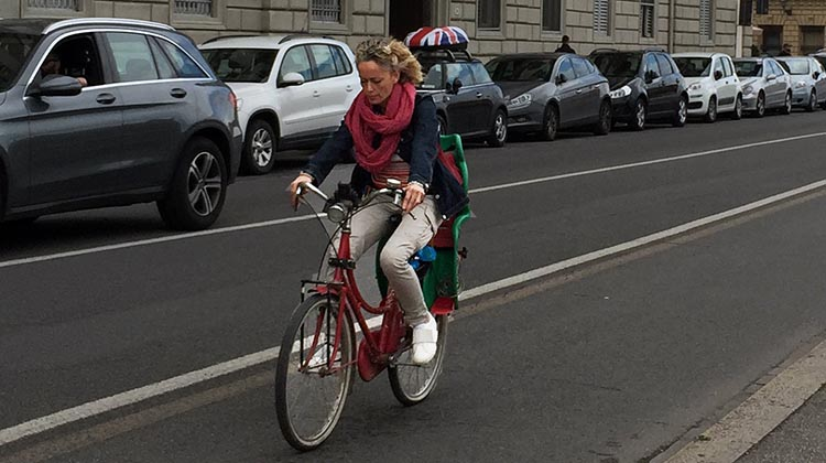 Our Electric Bike tour of Florence: Most people on bikes in Florence look like they just happened to jump on a bike - rather than dressing up in Lycra and high viz clothing ...