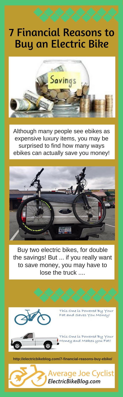 7 Financial reasons to buy an ebike