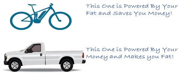 7 Financial Reasons to Buy an Ebike. Ebikes are powered by fat and a little electricity - not by gas!