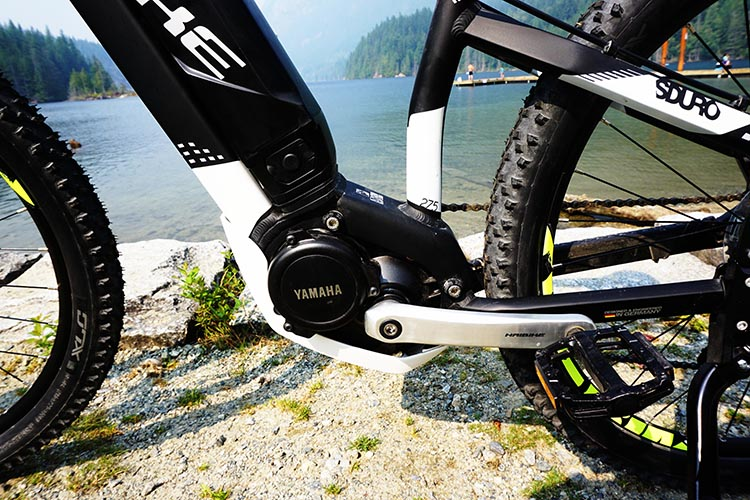 Haibike SDURO HardSeven 1.0 Review. The geometry of most Haibikes has the motor situated low down, close to the ground. You can see that here, on the Haibike SDURO HardSeven 1.0