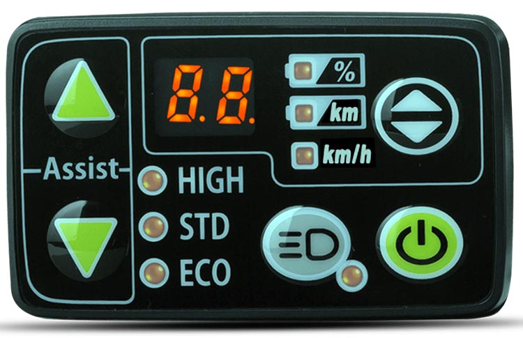 Haibike SDURO HardSeven 1.0 Review. The Yamaha LED Display on the Haibike SDURO HardSeven 1.0