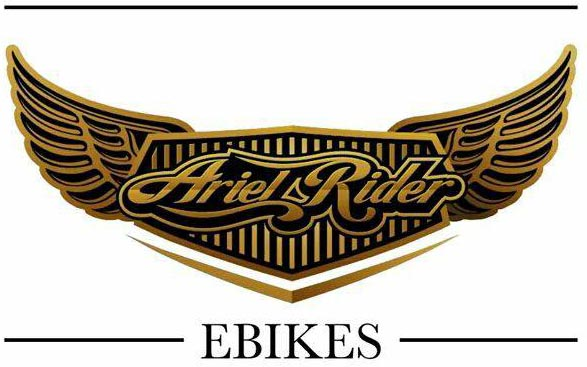 Ariel Rider M-Class Ebike – A Compact, Affordable Cargo Ebike. The Ariel Ebikes logo