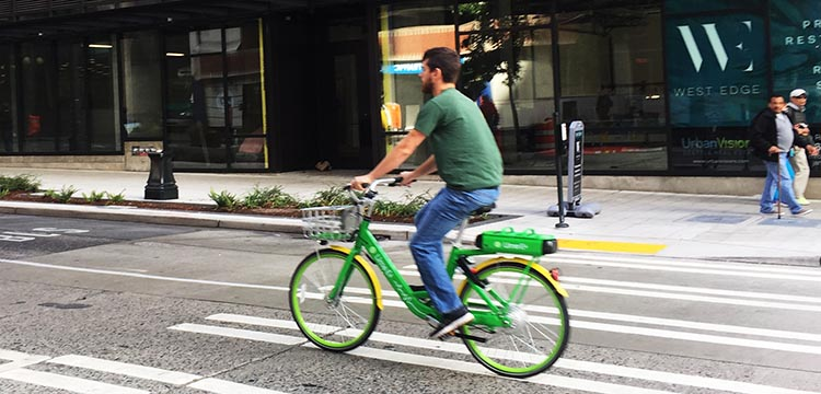 Seattle has good cycling infrastructure (by North American standards), so you can go just about anywhere on an ebike