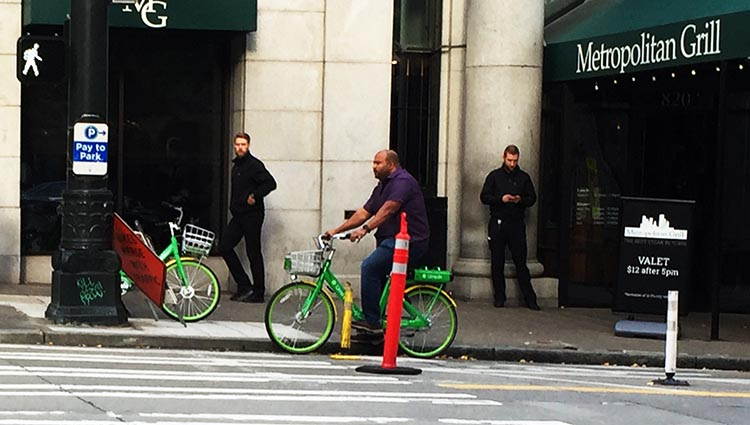 We constantly saw people riding Lime ebikes in downtown Seattle. Every ebike is one less car!