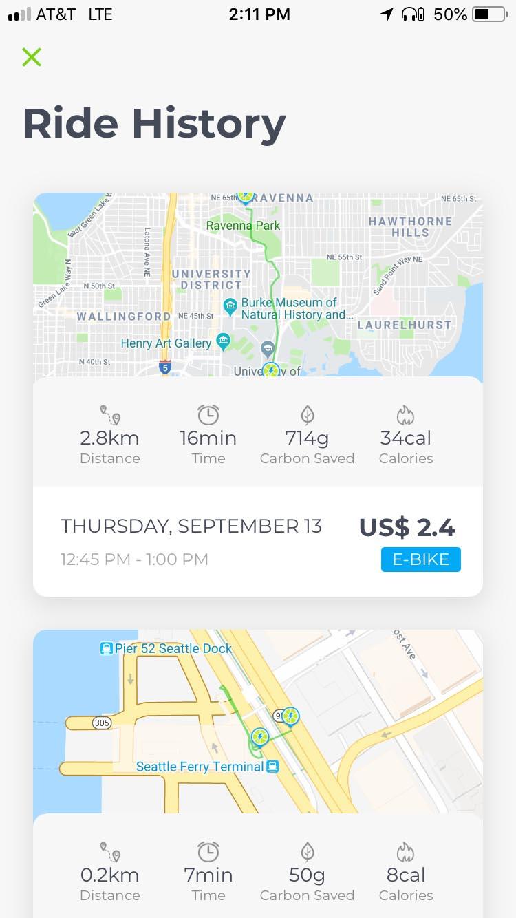 lime ebike app screen