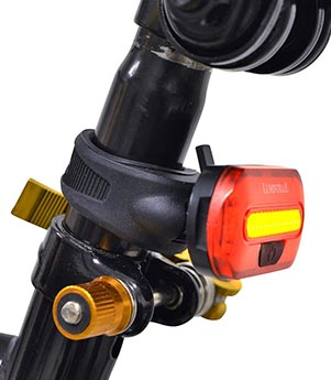 Great Price on Lumintrail Bike Light Set. The taillight can be attached to your seat post without tools