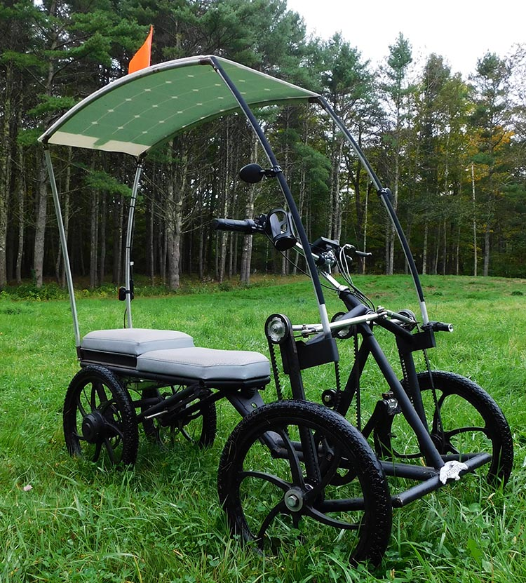 Fun and green too! The Screecher Pedalcycle – the world's first affordable carbon-neutral transportation machine.