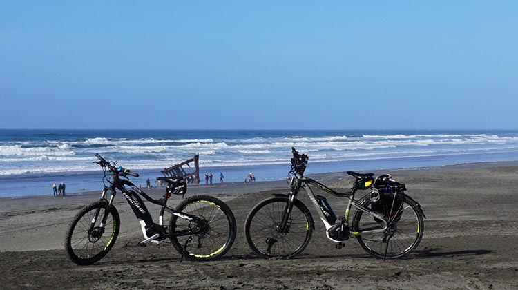 Riding Ebikes on the Trails at Fort Stevens State Park, Oregon