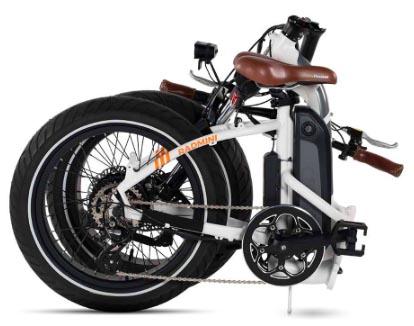 The RadMini Step-Thru electric folding bike when folded