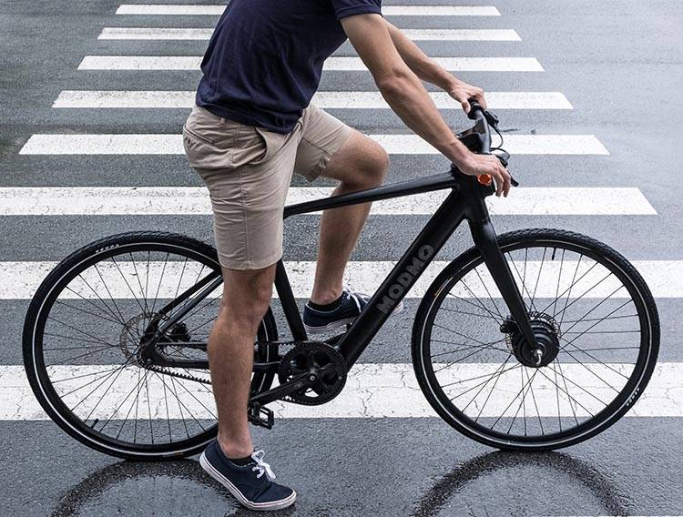 The Modmo Saigon has a front hub motor, and is not obviously an e-bike