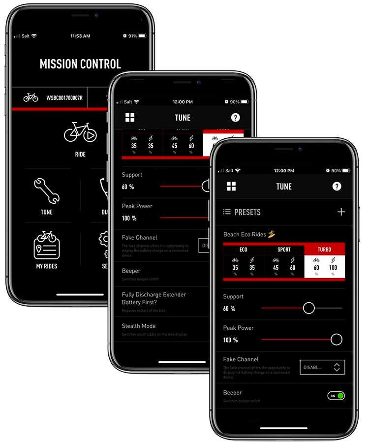 Connect your bike to your phone and control everything about this Specialized Turbo Como SL e-bike