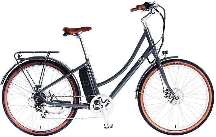 The Blix Aveny Skyline electric commuter bike is available in Steel Blue, Burgundy, Slate Gray and Nü Cream
