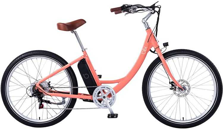 The Blix Sol Eclipse Electric cruiser bike is available in Seafoam, Sorbet, Slate Gray and Sky Blue