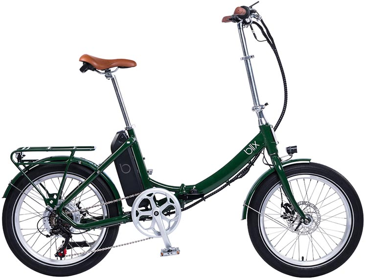The Vika+ Flex electric folding bike can be yours in Steel Blue, Burgundy, Racing Green and Nü Cream